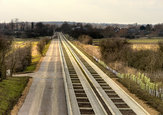 The yet to be used Cambridge Guided Busway