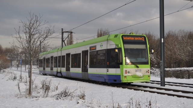 Trams in the snow south norwood country park-17
