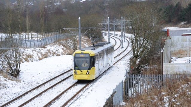 Metrolink in snow