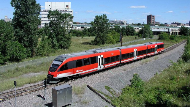 "The Ottawa ""O"" Train is legal to operate on existing railway lines and could provide servcie to the Nort Shore"