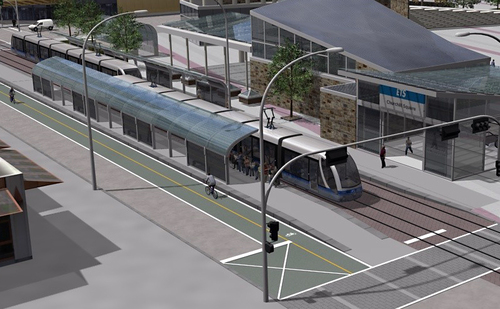 Edmonton is weaning itself from German style S-Bahn to classic Style of European LRT, complete with low-floor trams