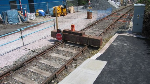 The end of the line today, but not for tomorrow, where the line will be rebuilt to Tavistock.