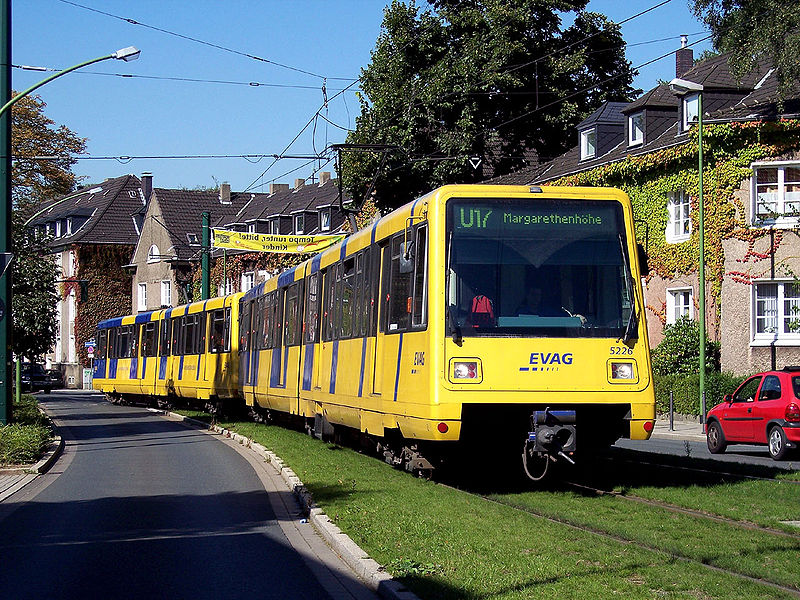 The Modern Tram in Essen