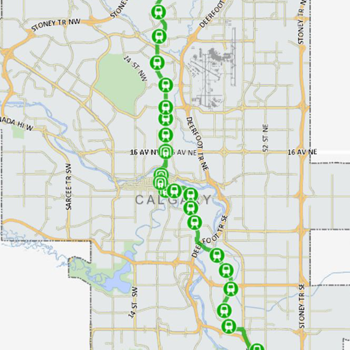 Calgary Subway Map.Calgary S C Train Expands Rail For The Valley