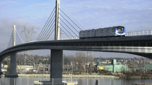 Thr canada line can only operate 41 metre long two car trains, which is smaller than many trams on the market today. Thus the canada line has less capacity than a modern tramway.