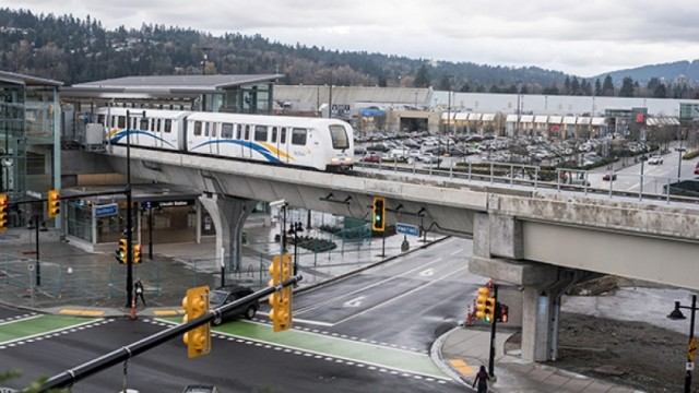 The cost of the Skytrain light-metro is now over $200 mil/km to build. Richmond does not have the population to support such an investment.