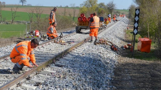 Rebuilding a mothballed rail line in Germany