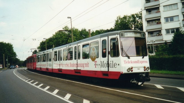 A Bonn tram on a simple, yet effective reserved rights-of-way, givng metro servcie at a fraction of the cost.
