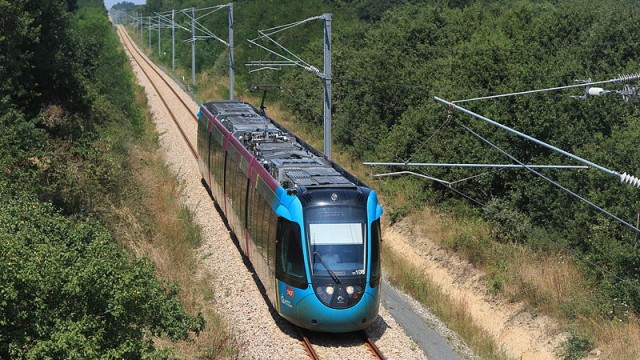 A French TramTrain operating on a regional railway, offers a new dimension to rail travel.